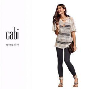 Cabi Capri Ivory Lace Top Size L #5026